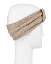 Portolano Cashmere Knot Headband Nile Brown
