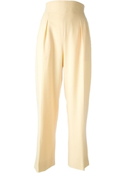 Celine Vintage High Waisted Trouser Yellow And Orange