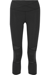 Yummie By Heather Thomson Leah Mesh Trimmed Stretch Jersey Capris