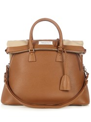 Maison Martin Margiela 5Ac Grained Leather Tote Camel