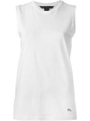 Marc By Marc Jacobs Round Neck Tank Top White