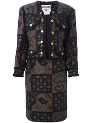 Moschino Vintage Knitted Suit Brown
