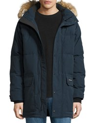 Canada Goose Emory Down Parka With Fur Trim Hood Ink Blue