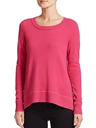 Diane Von Furstenberg Kingston Cashmere Sweater Hot Flaming Pink