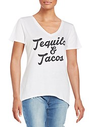 Signorelli Tequila And Tacos Graphic Tee White