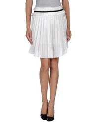 Maison Espin Knee Length Skirts White