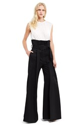 Yang Li Torn Trousers Black