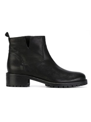 P.A.R.O.S.H. Chunky Heel Ankle Boots Black