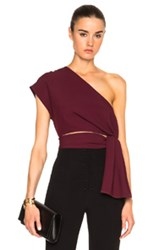 Tome One Shoulder Top In Red