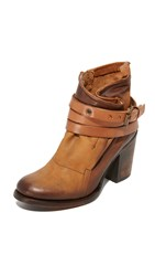 Freebird Blaze Booties Cognac
