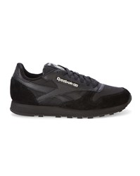 Reebok Black Glow In The Dark Classic Leather Sneakers