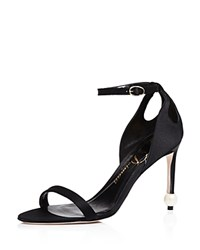 Delman Jemm Ankle Strap High Heel Sandals Black
