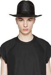 Robert Geller Black Straw Hat