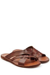 Officine Creative Leather Sandals Brown