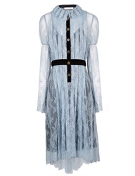 Philosophy Di Lorenzo Serafini Powder Blue Lace Victoriana Dress
