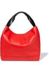 Marni Pod Two Tone Leather Tote Red