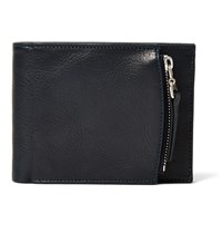 Maison Martin Margiela Grained Leather Billfold Wallet Blue