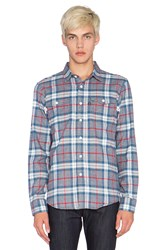 Huf Heavy Weight Flannel Button Up Blue