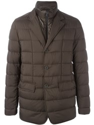 Herno Zipped Padded Jacket Brown