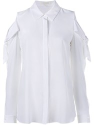 Jonathan Simkhai Cold Shoulder Shirt White
