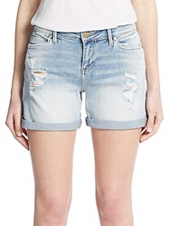 Calvin Klein Jeans Distressed Jean Shorts Perfect Blue