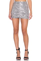 Wyldr Keep It Together Mini Skirt Gray