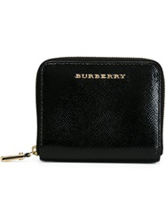 Burberry London Small Patent London Leather Wallet Black