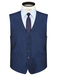 Daniel Hechter Tonic Tailored Waistcoat Bright Indigo