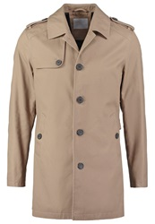 Selected Homme Derek Trenchcoat Desert Taupe Mottled Brown