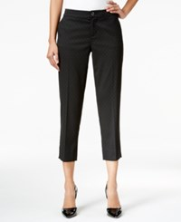 Tommy Hilfiger Cropped Tapered Pants Only At Macy's Black
