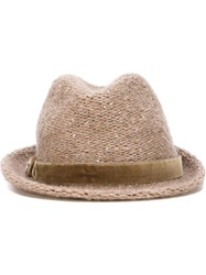 Jacob Cohen Trilby Hat Nude And Neutrals
