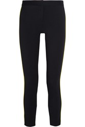 Versace Stretch Gabardine Skinny Pants Navy