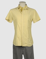 Replay Shirts Short Sleeve Shirts Men Yellow
