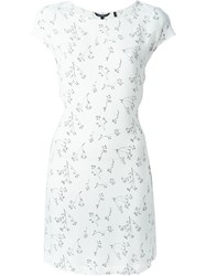 Woolrich Floral Print Fitted Dress White