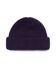 Realm And Empire Made In England Chunky Beanie Hat Navy