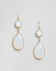 Aldo Edirerwen Drop Earrings White Gold