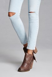 Forever 21 Sbicca Distressed Booties Brown