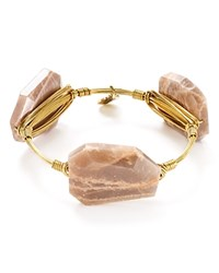 Bourbon And Boweties Moonstone Bangle Gold