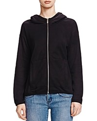 The Kooples Silk Hoodie Black