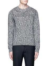 Valentino Tribal Embellished Virgin Wool Sweater Multi Colour