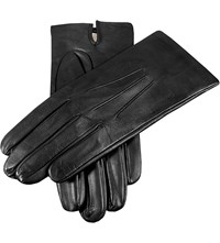 Dents Hand Sewn Silk Lined Leather Gloves Black