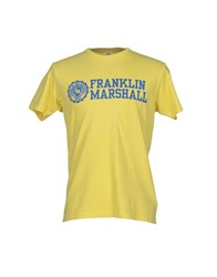 Franklin And Marshall Topwear T Shirts Men Yellow
