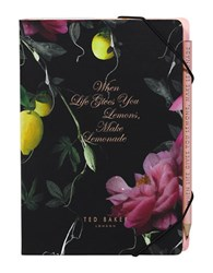 Ted Baker Notebook Sticky Note And Pencil Set Black