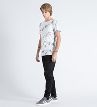 Mister White Marble Print Mr. Chrome Dye T Shirt