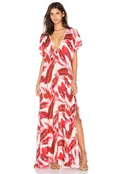 Clube Bossa Manville Maxi Dress Red