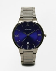 Sekonda Watch In Black Stainless Steel Black