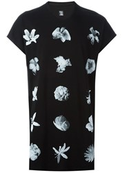 Julius Flower Print T Shirt Black