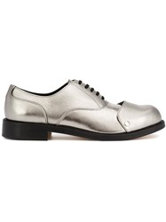 Comme Des Garcons Homme Plus Layered Cap Metallic Oxfords