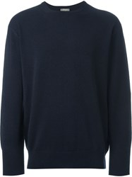N.Peal 'The Oxford' Round Neck Sweater Blue
