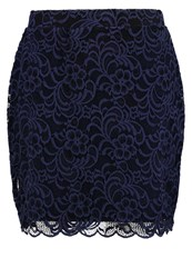 Junarose Jrvanna Pencil Skirt Black Iris Dark Blue